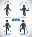 Jump design Stock Images