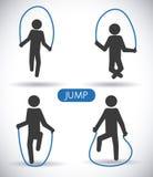 Jump design Stock Images