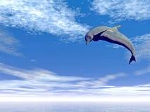 Jump_Dolphin ilustração do vetor