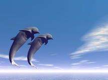 Jump_Dolphin3 ilustração royalty free