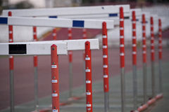Jump fence Royalty Free Stock Image