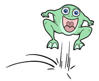 Jump frog Royalty Free Stock Images