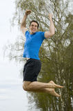 Jump for fun side Royalty Free Stock Photography