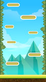 Jump Game User Interface Design For Tablet Royalty Free Stock Photos