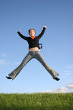 Jump girl Stock Image