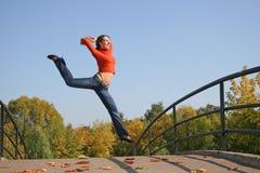 Jump girl royalty free stock photography
