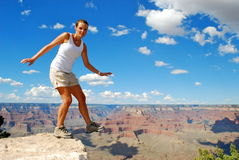 Jump into the grand canyon Royalty Free Stock Photos