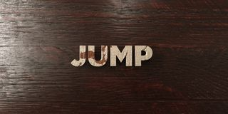 Jump - grungy wooden headline on Maple  - 3D rendered royalty free stock image Royalty Free Stock Photo