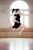Jump happy dancer Royalty Free Stock Images