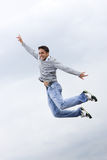 Jump of happy man Stock Images