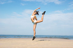 Jump for  health and youth Royalty Free Stock Photography