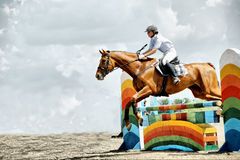 Jump horse Stock Photography