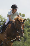 Jump horse - equestrian race Stock Image