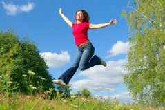 Jump Into The Sky (series) Royalty Free Stock Photos