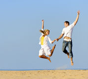 Jump for joy Royalty Free Stock Photography