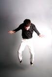 Jump for joy... stock photo