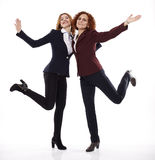 Jump for joy with friends Royalty Free Stock Images