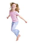 Jump, joy, junior Stock Images