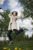 Jump for joy Royalty Free Stock Image