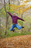 Jump for joy outdoor Royalty Free Stock Image