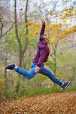 Jump for joy outdoor Stock Photography