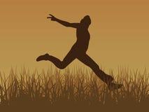 Jump for joy vector. Vector image jump for joy brown vector illustration