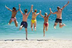 Jump into the lake Royalty Free Stock Photos