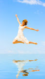 Jump like crazy Stock Photography