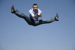 Jump of man Royalty Free Stock Image
