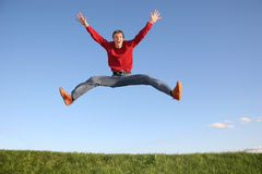 Jump man Royalty Free Stock Photos