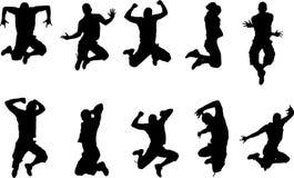 Jump man. Vector image, young man jump Stock Image