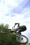 Jump man on a bicycle Stock Photography