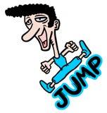 Jump man Stock Images