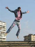 Jump Man In City Stock Photos