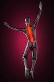 Jump man radiography Royalty Free Stock Image
