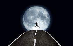 Jump moon Stock Photo