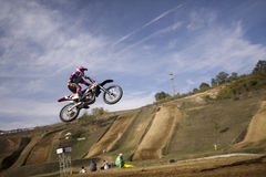 JUMP MOTOCROSS-42-�Х1 Royalty Free Stock Photography