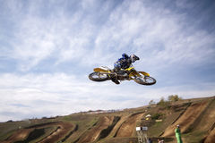 JUMP MOTOCROSS-8-�Х1 Royalty Free Stock Photo