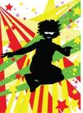 Jump n dance. Illustration representing a man dancing and jumping Royalty Free Stock Photography
