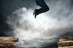 Jump over the obstacle Royalty Free Stock Photo