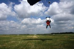 Jump from a parachute royalty free stock photos