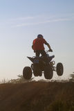 Jump on quad bike Royalty Free Stock Images