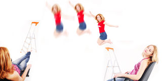 Jump and relax Royalty Free Stock Images