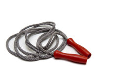Jump rope. Isolated jump rope with red handle Stock Images