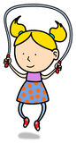 Jump rope little girl Stock Images