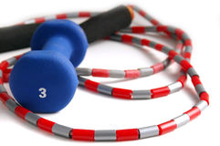 Jump-rope and weight royalty free stock photos