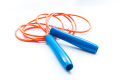 Jump rope in white isolated Royalty Free Stock Photo