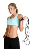 Jump Rope Woman. Healthy fitness jump rope woman Stock Images