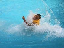 Jump in sea Stock Image