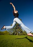 Jump and Shadow Royalty Free Stock Images